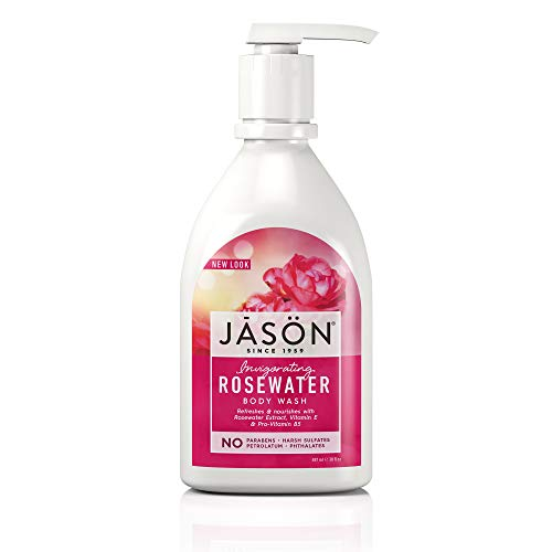 Cruelty Shower Organic - Jason 30 oz Invigorating Rosewater Pure Natural Body Wash