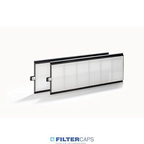 Ersatzfilter-Set | 2 x G4 Minifalt | ComfoAir 350/550 passend fü r Zehnder Lü ftungsgerä te FILTER-CAPS.DE