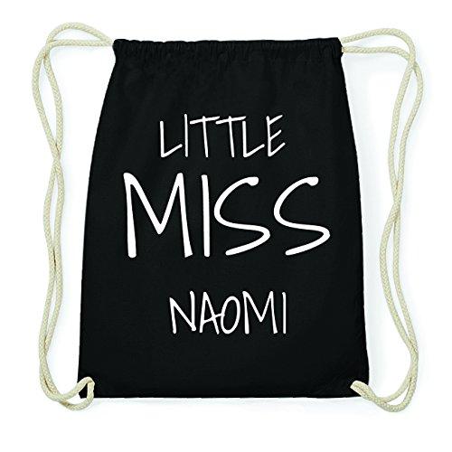 JOllify NAOMI Hipster Turnbeutel Tasche Rucksack aus Baumwolle - Farbe: schwarz Design: Little Miss GOzFyjX