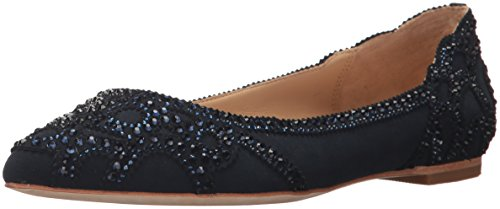 Badgley Mischka Women's Gigi Ballet Flat, Midnight, 7 M US by Badgley Mischka