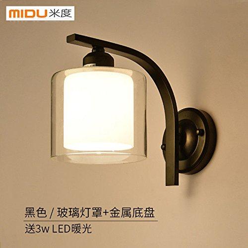 GGRXA Vintage Candelabro lámpara de pared estilo industrial ...