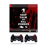 ps3 super slim skin cover - MightySkins Protective Vinyl Skin Decal Cover for Sony Playstation 3 Slim Console wrap sticker skins Kill Zombies