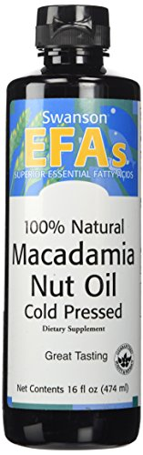 Swanson 100% Natural Macadamia Nut Oil, Cold Pressed 16 fl oz (473 ml) Liquid