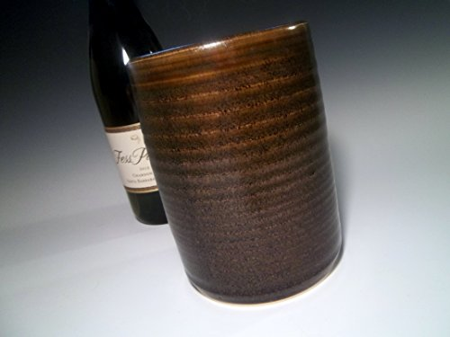 Handmade-Dark-Brown-Speckle-Stoneware-Wine-Chiller