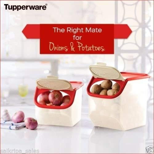 Tupperware Access Mate Potato & Onion Keeper (3L & 5.5L) Set Of 2 by ANMOL COLLECTIONS