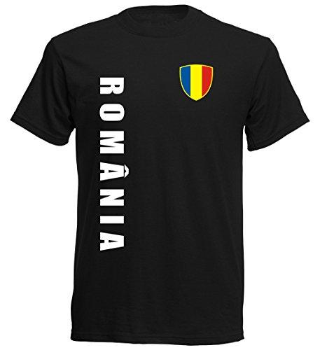 Rumänien EM 2016 T-Shirt Trikot - S M L XL XXL - schwarz 10