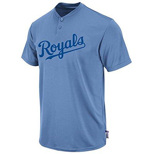 Kansas City Royals Coastal Blue 2 Button Cool Base Adult Jersey (X-Large)