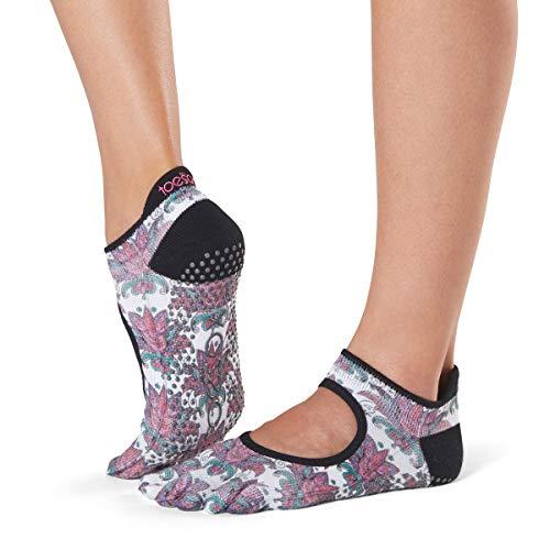 toesox Women's Bellarina Full Toe w/Grip Mantra Medium