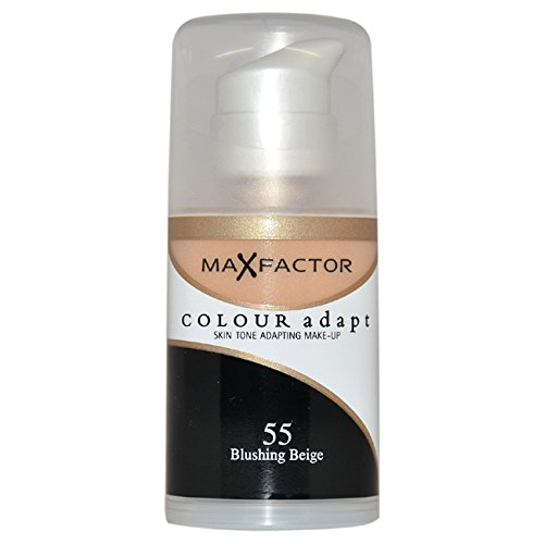 Max Factor Color Adapt Skin Tone Adapting Makeup for Women, # 55 Blushing Beige, 1.14 - Tone Skin Colours Cool