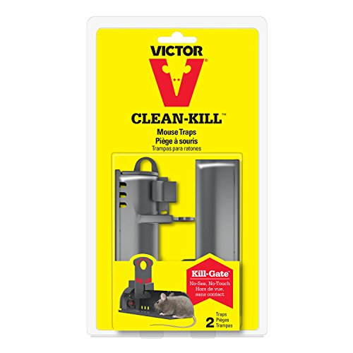 Victor M162S Clean Kill Mouse Trap, 2-Pack - No Touch, No See Tunnel