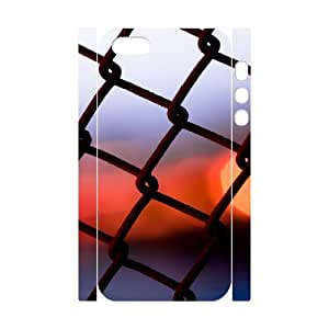 3D Cathyathome Iron Fence Close up Ilike IPhone 5,5S Cases, [White]