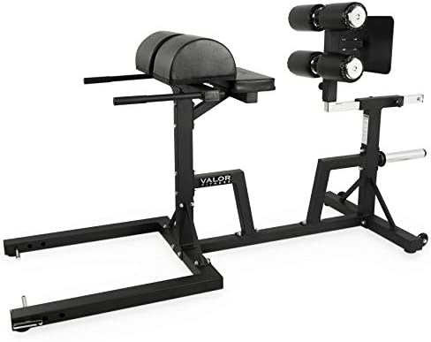 Valor Fitness CB-29 Adjustable Glute and Ham Developer GHD Ab Machine for Hip and Back Extensions and GHD Sit Ups Includes Band Pegs and Olympic Plate Storage