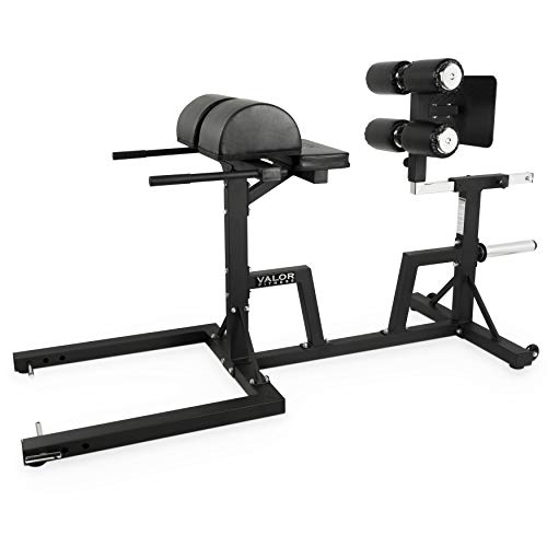 Valor Fitness CB-29 Adjustable Glute and Ham Developer with Band Pegs and Olympic Plate Storage