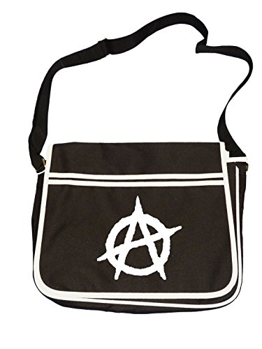 Symbol Retro Establishment Messenger Bag Icon Anti Shoulder Men's Anarchy Black 6qHxwa6