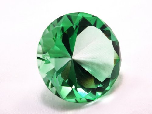 80mm Emerald Crystal Diamond Jewel Paperweight (Emerald Crystal)