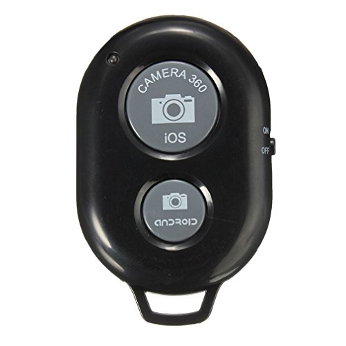 GBSELL New Self-Timer Remote Shutter Camera Bluetooth Controller for iPhone 7,iPhone 6,Samsung and Other Android (Black)