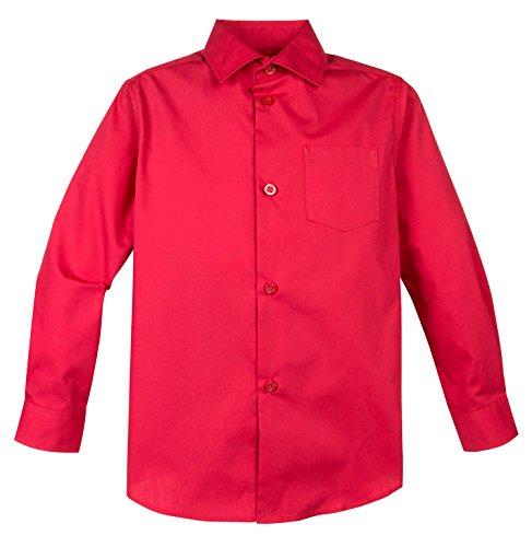 (Spring Notion Big Boys' Long Sleeve Dress Shirt 12 Lollipop)