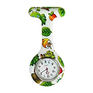 Bullahshah Silicone Nurse Watch Doctor Medical Staff Pin-on Broche Fob Watch de TheBigThumb, Estilo C 2