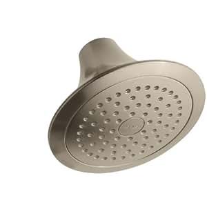 KOHLER K-10282-BV Forte Single-Function Showerhead, Vibrant Brushed Bronze