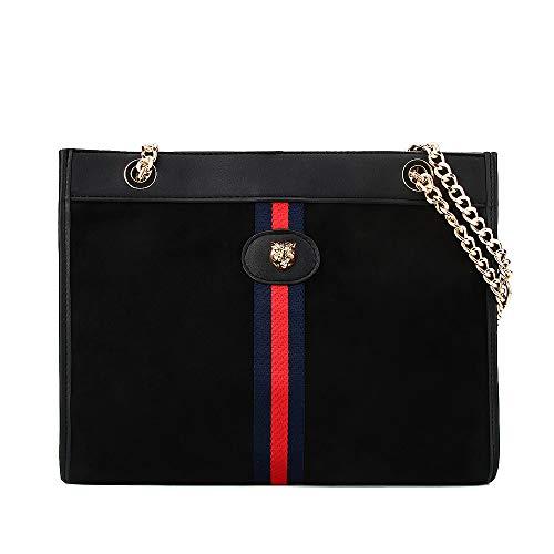 (Beatfull Designer Bee Soft Tote Handbag for Women, Fashion Tiger Top Handle Bag Shopping Shoulder bag Tote Set Purse (black))