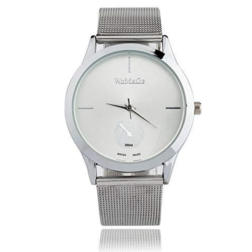(YANG-YI Unisex Fashion Alloy Belt Watch Minimalist Style Quartz Watch Business Wristwatch Bangle Watch)