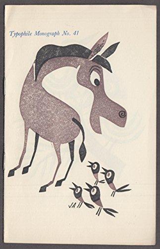 Typophiles Monograph #41 Seed Corn Bird Linoleum Cuts Molehill Press 1954