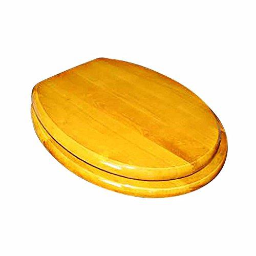(Bathroom Toilet Seat Golden Amber Hard Wood Elong Brass PVD | Renovator's Supply)