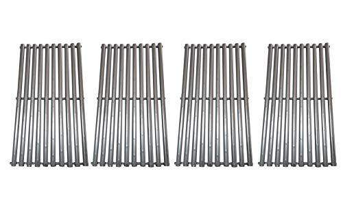 Gas Grid - BBQration Stainless Steel Cooking Grid Replacement for Select Gas Grill Models by Broil-Mate, Huntington and Others, Set of 4