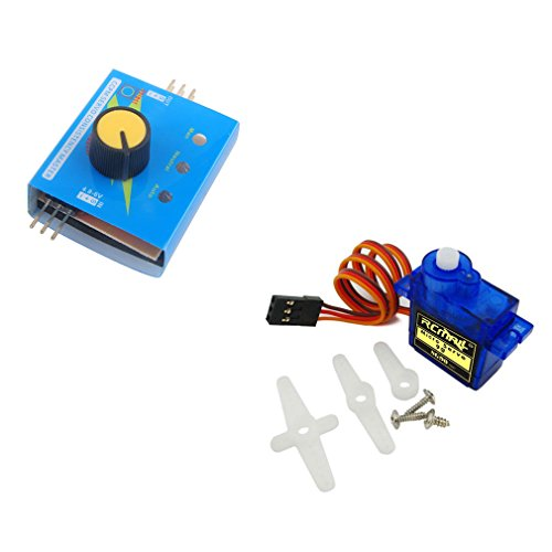 WIshioT SG90 9g Mini Micro Servo Motor 180 Degree Continuous Rotation with 3CH Digital Multi Servo Tester For RC Helicopter Airplane Car Boat (Speed Mini Rc Servo)