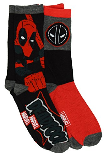 Marvel Deadpool 2 Pack Casual Crew Socks 6-12 from Marvel