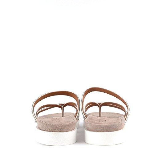 f3976aeab Elia B Shoes Glitzy Silver Flat Sandal 37EU 4UK Silver  Amazon.co.uk  Shoes    Bags
