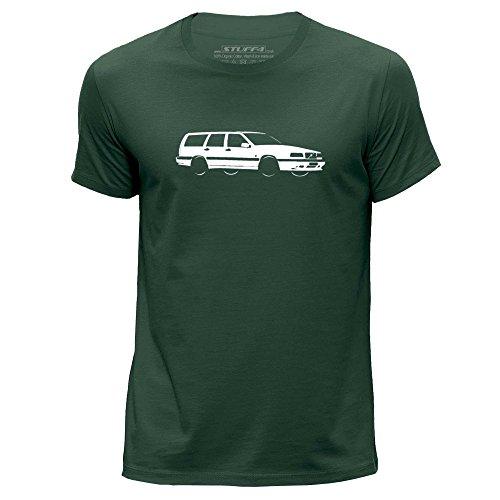 stuff4-mens-medium-m-dark-green-round-neck-t-shirt-stencil-car-art-850-t5-r