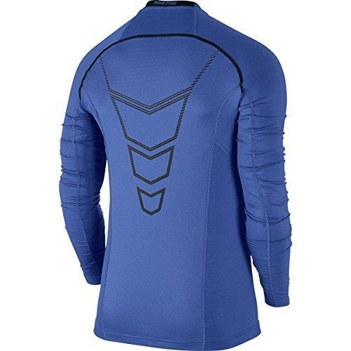 Nike Nike Pro Combat Hyperwarm Dri-FIT Max Fitted Crew - Long Sleeve - Mens Game Royal/Black/Black