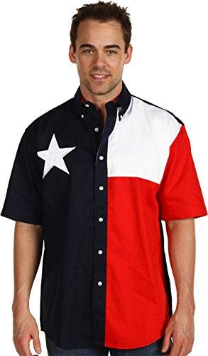 Roper Men's Texas Collection Flag Shirt Navy Medium (Collection Roper)