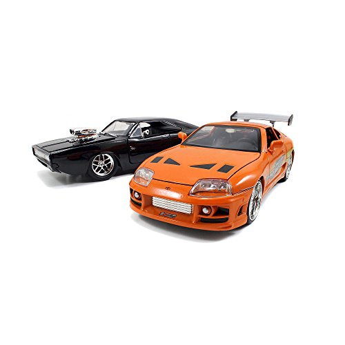 Jada R/C Frequency A & B Fast & Furious Radio Control Dom's Dodge Charger R/T & Brian's Toyota Supra RC Vehicles Scale 1:12 (Fast And Furious 1 12 Rc Car)