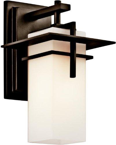 Kichler 49642OZ Caterham Indoor/Outdoor Wall 1-Light, Olde Bronze