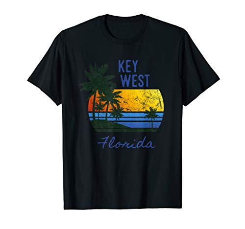 Original Key West Sunset Florida Beach Vintage Novelty Art T-Shirt