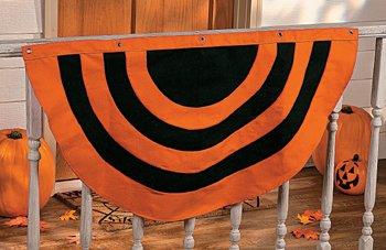 Halloween Bunting halloween bunting flags popcorn chocolate Black Orange Fallhalloween Bunting