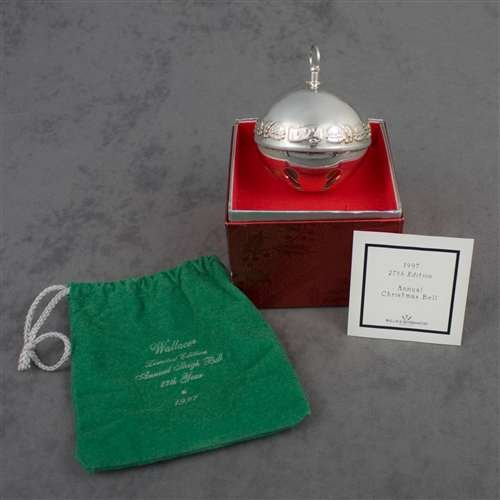 Wallace Sleigh Bell Silverplate - 1997 Sleigh Bell Silverplate Ornament by Wallace