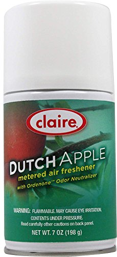 (Claire C-104 7 Oz. Dutch Apple Metered Air Freshener Aerosol Can (Case of 12))