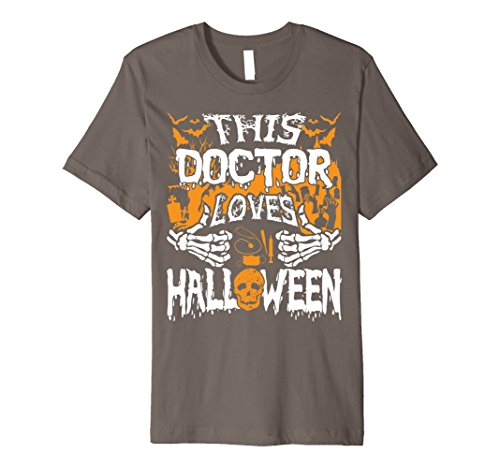 Mens This Doctor Loves Halloween Shirt Gift for Doctor 2XL Asphalt (Surgeon And Patient Halloween Costume)