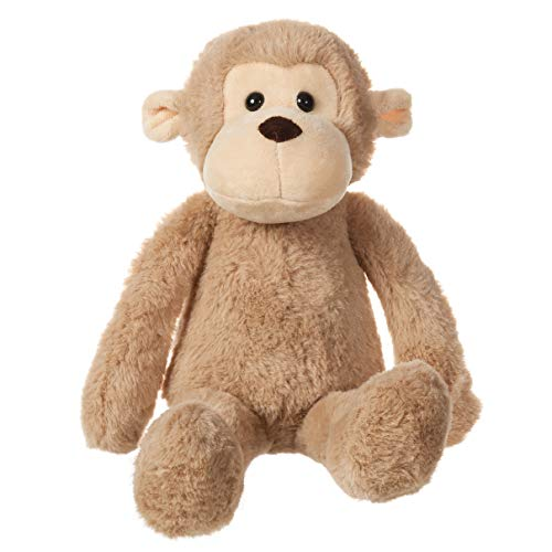 CharaHome Plush Monkey Stuffed Animal, Brown, Soft Cuddly, Perfect for Girls, Boys, Newborn,10''