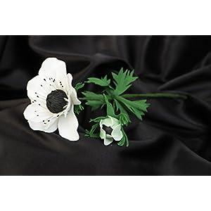 Handmade Artificial Foamiran Flower White Anemone For Interior Decoration 57