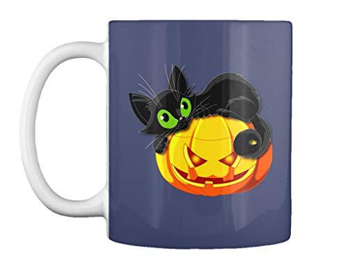 teespring Halloween cat 11oz - Dk navy Mug - Teespring Mug