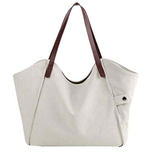 Hombro Femme Bandoulière Bolsa Sac Blanc 059 001 De Esailq blanc Lona SEwYXw
