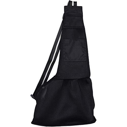 (Pet Dog Carrying Bag Mesh Cloth Puppy Chihuahua Yorkies Small Cat Slings Backpack,Mesh Black,L)