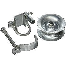 "Pressed Steel Rear Track Roller Guide Roller Light Duty Chain Link Gates 1-5/8"""