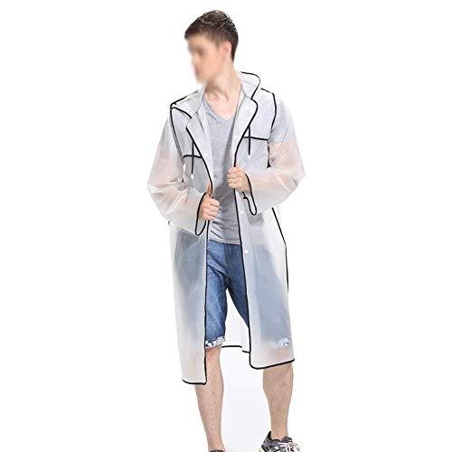 Semplice Uomo Trasparente Outdoor Waterproof Nero Donna Stile Rain Suit Raincoat Studente Zhangqiang Poncho Weather Jacket 8PwARqX