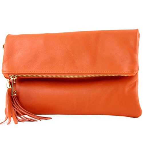 leather Orange bag nappa croco Italian bag underarm small shoulder leather T54 leather bag bag Wild shoulder Clutch CCqSwO