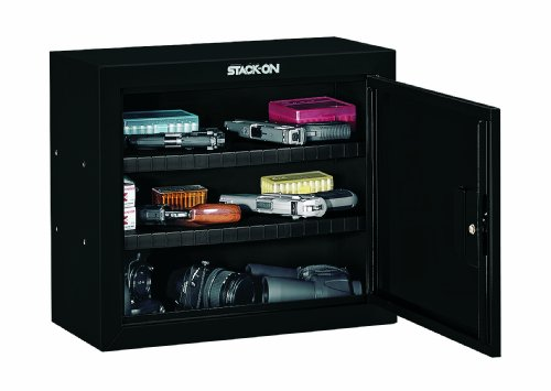 Stack-On GCB-900 Steel Pistol/Ammo Cabinet, Black
